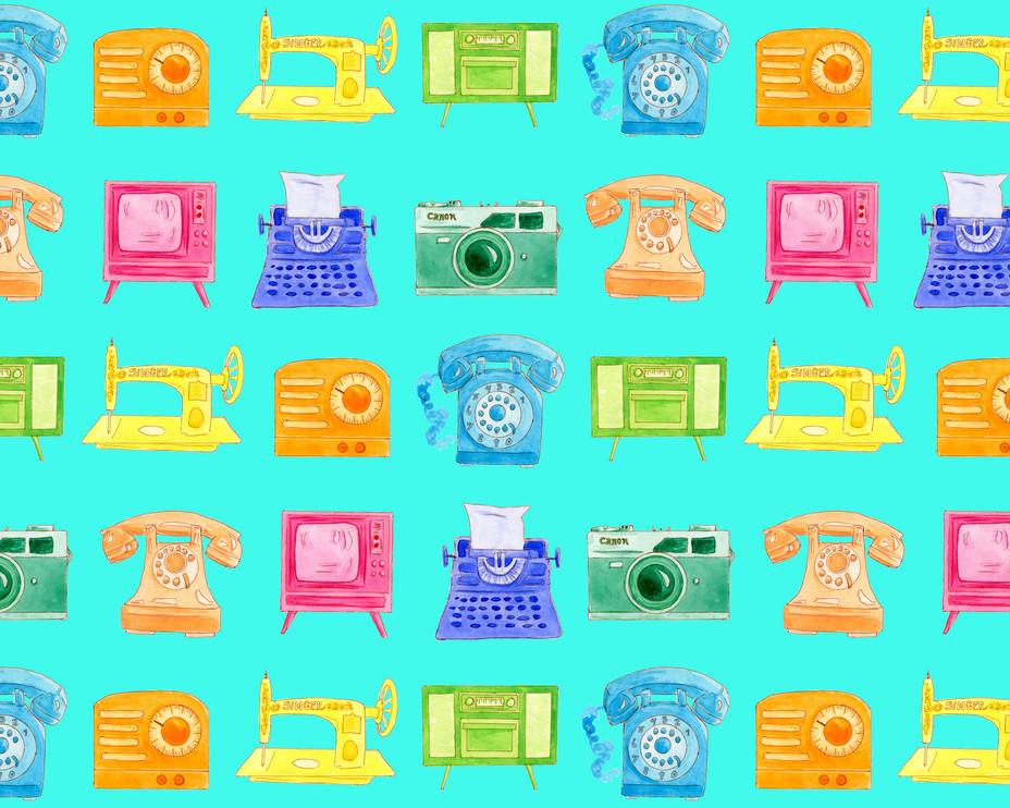 Retro Electronics pattern
