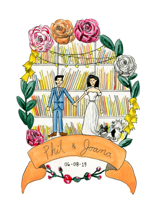 Phil & Joana wedding invitation