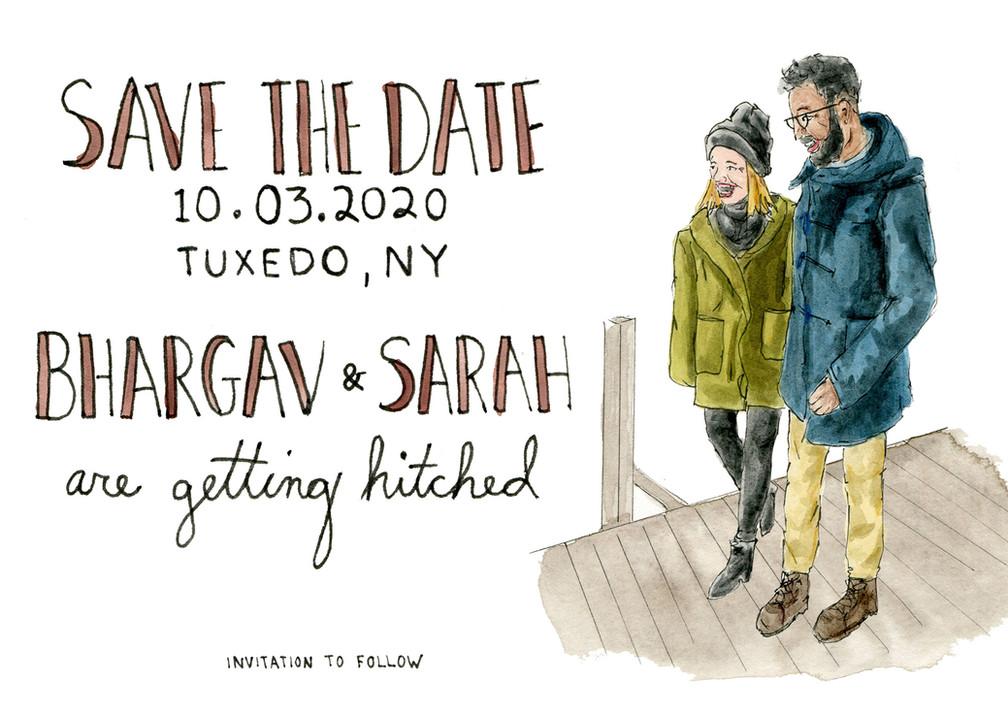 Bhargav & Sarah Save the Date
