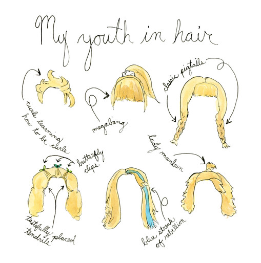 My youth in hair