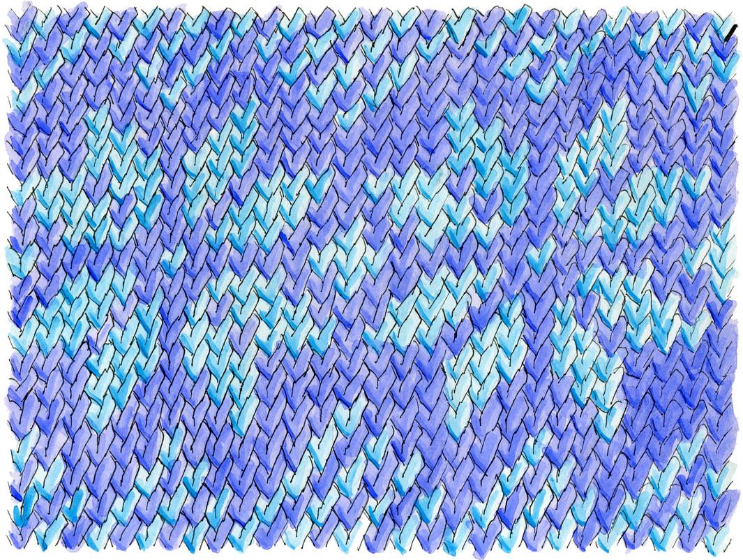 Faux Fair Isle Knitting