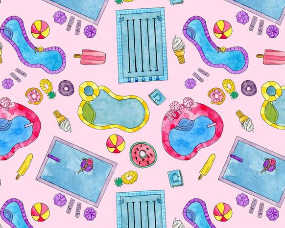 Summer Pool Pastels