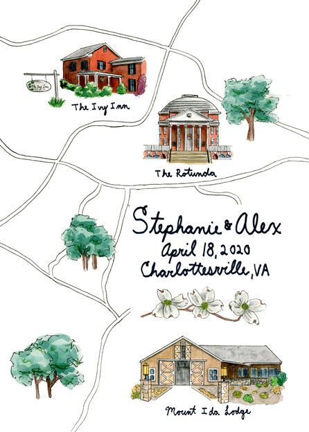 Stephanie & Alex wedding map
