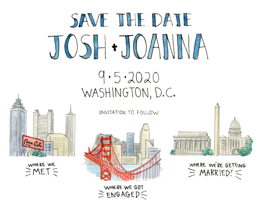 Josh + Joanna Save the Date
