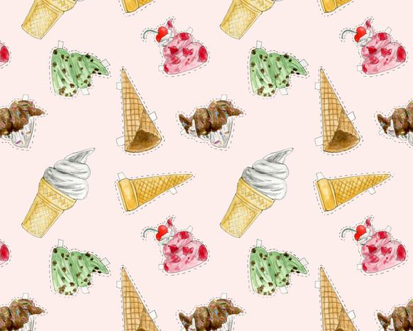 Ice Cream Paper Doll pattern