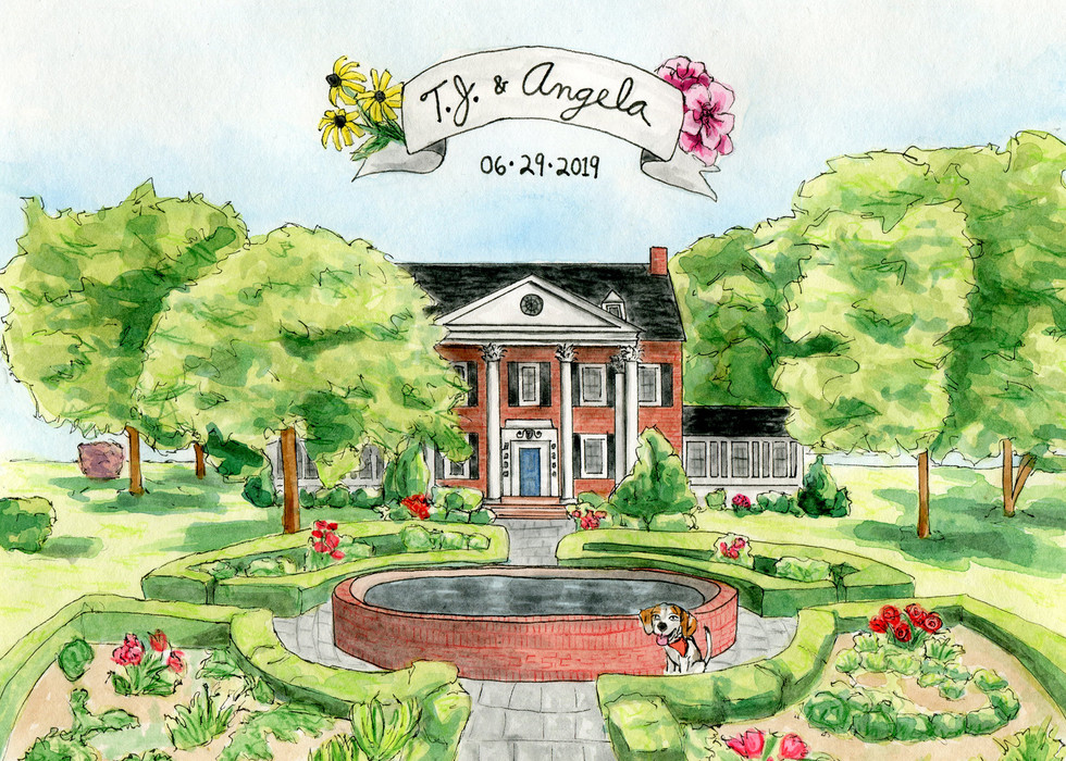 TJ & Angela wedding invitation