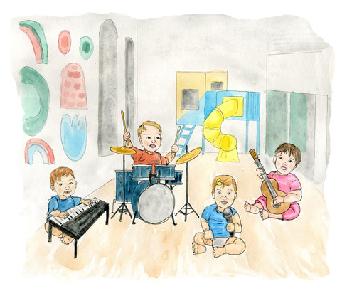 Custom baby band portrait