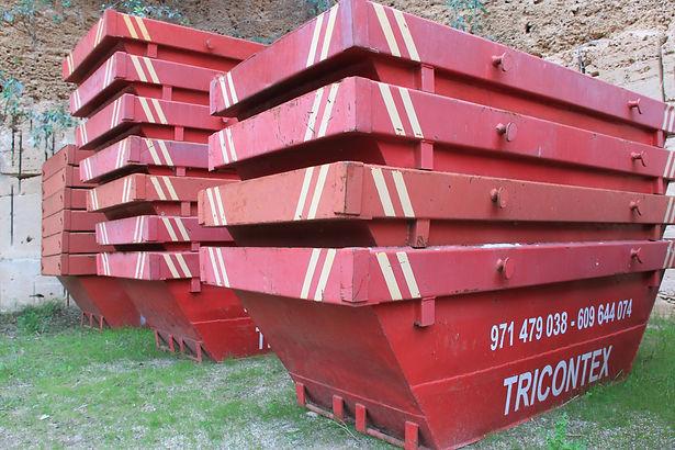 Contenedores para residuos de escombros, poda, palmera, madera y cristal
