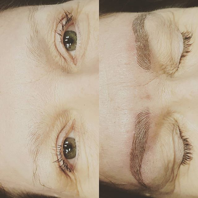 Microblading brow correction