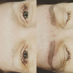 Microblading brow correction