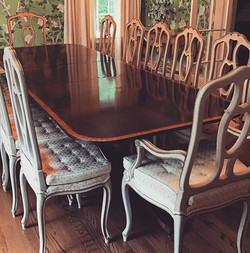 What better way to dine? Restored table
