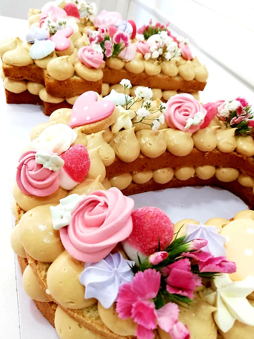 NUMBER CAKE kit DIY en casa