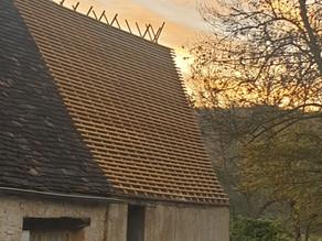 Lattage côté sud terminé