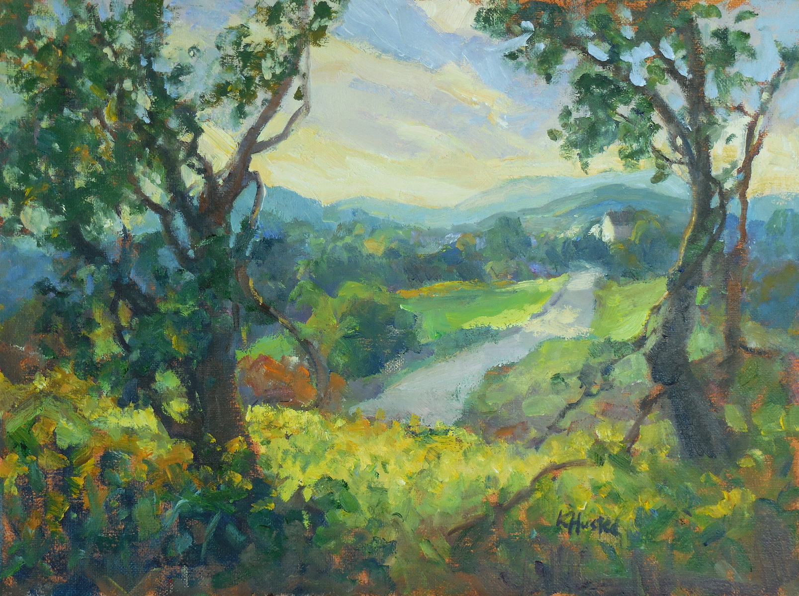 Light on the Hills 12x16
