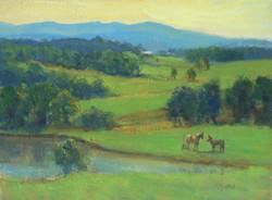 Horses and Hills 12x16
