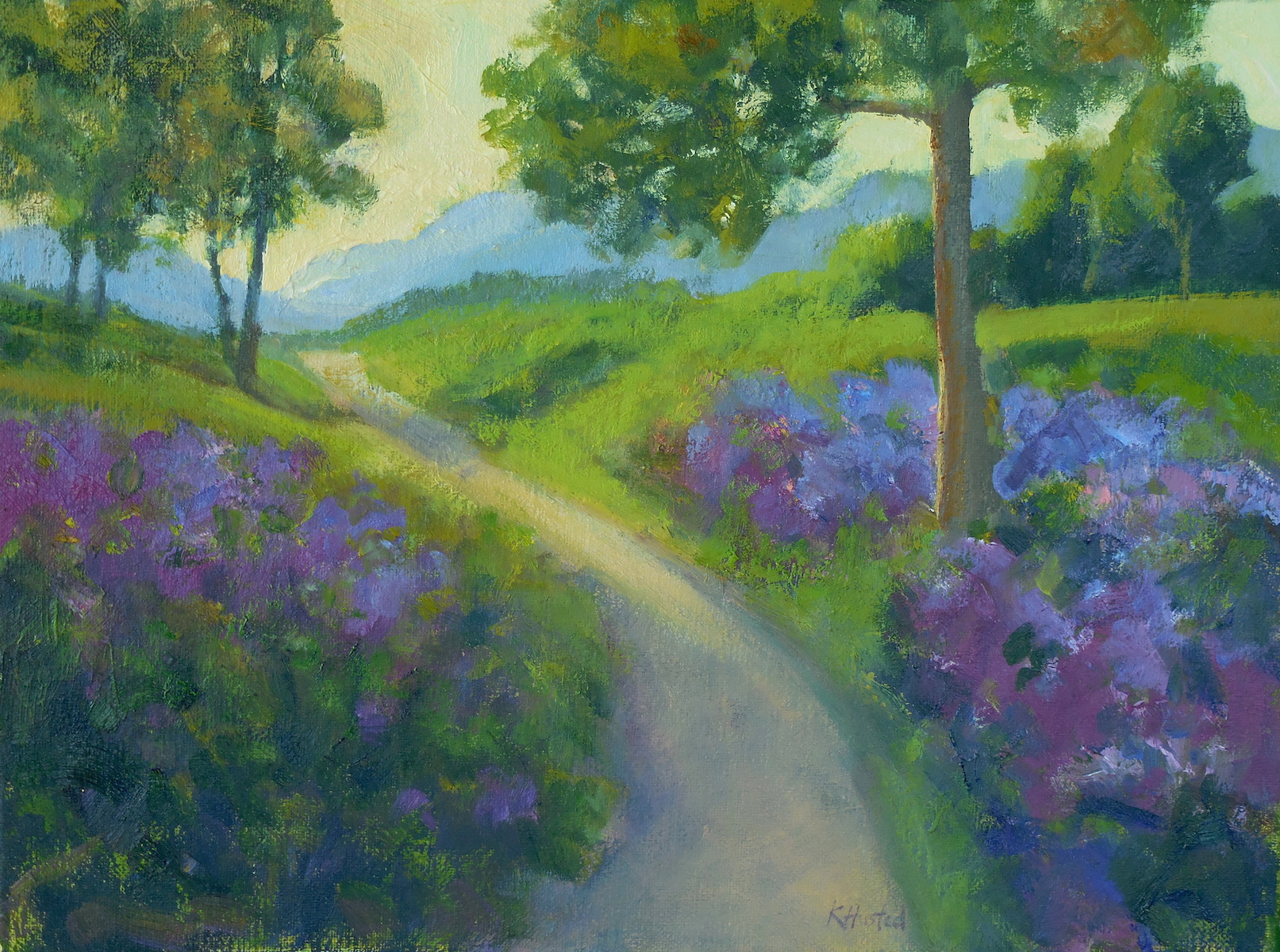 Through the Flowers 12x16