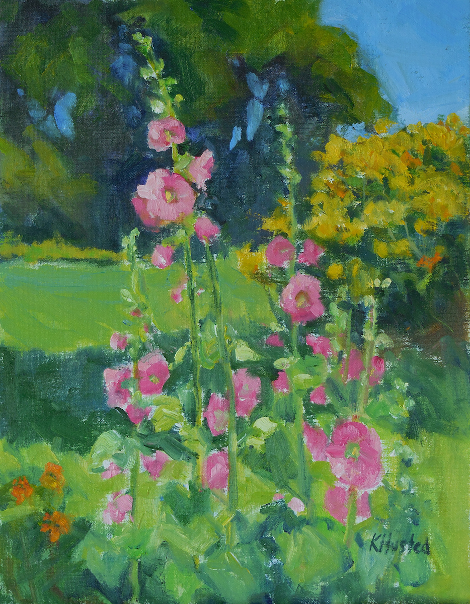 Hollyhocks 11x14