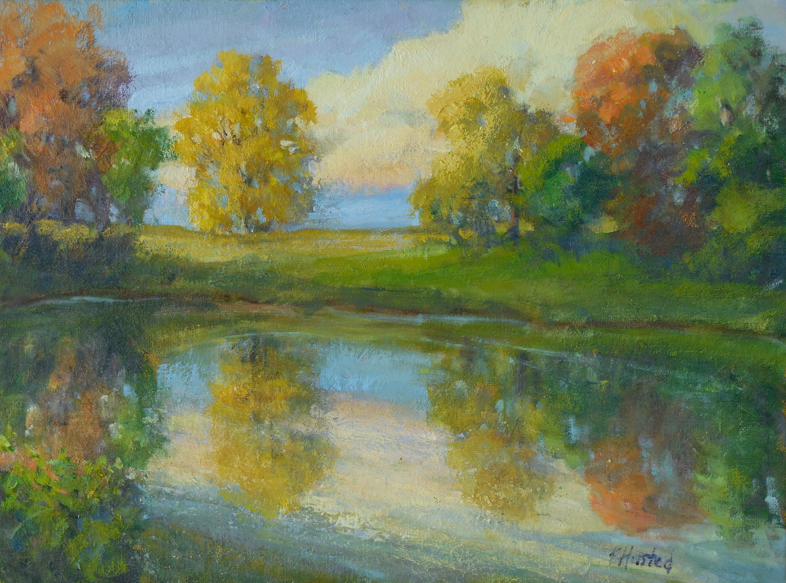 Autumn Pond 12x16