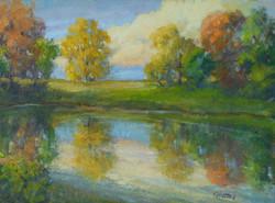 Autumn Pond 12x16