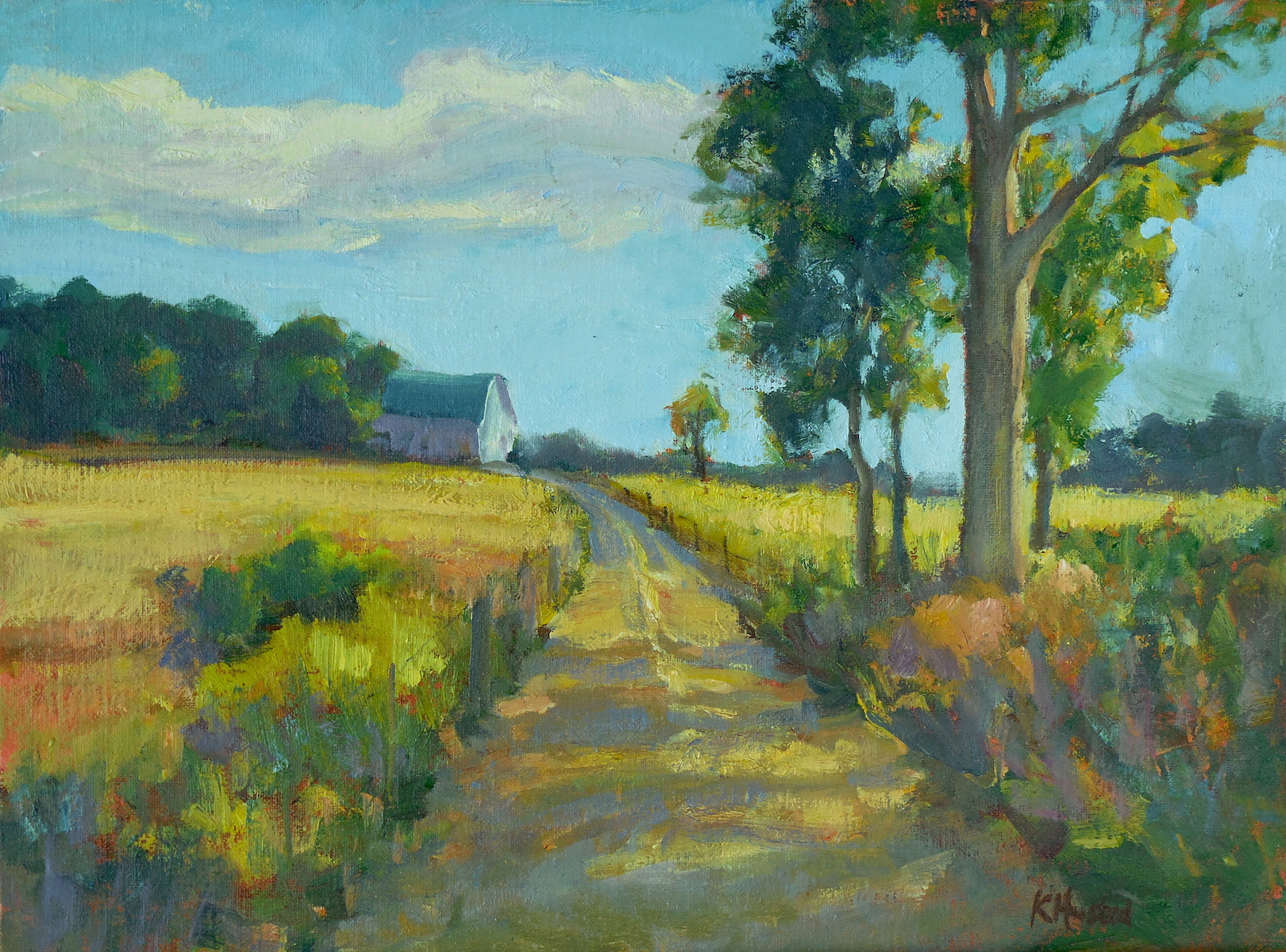 Road to the barn 12x16