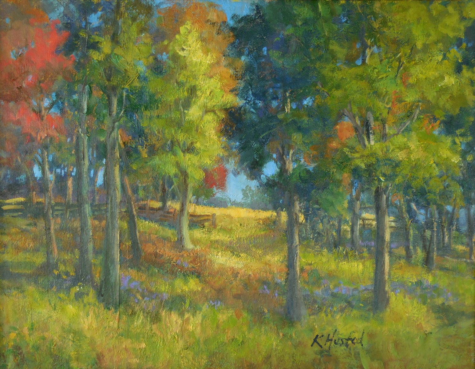 Autumn Woods 14x18