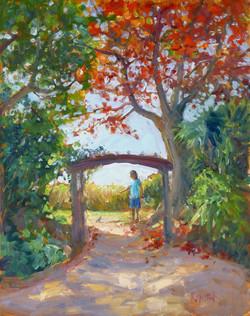 Under the Almond Tree 11x14