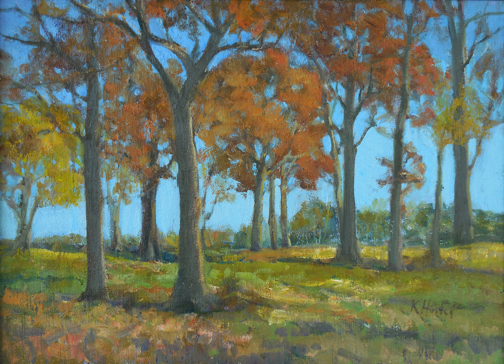 Autumn Trees 12x16