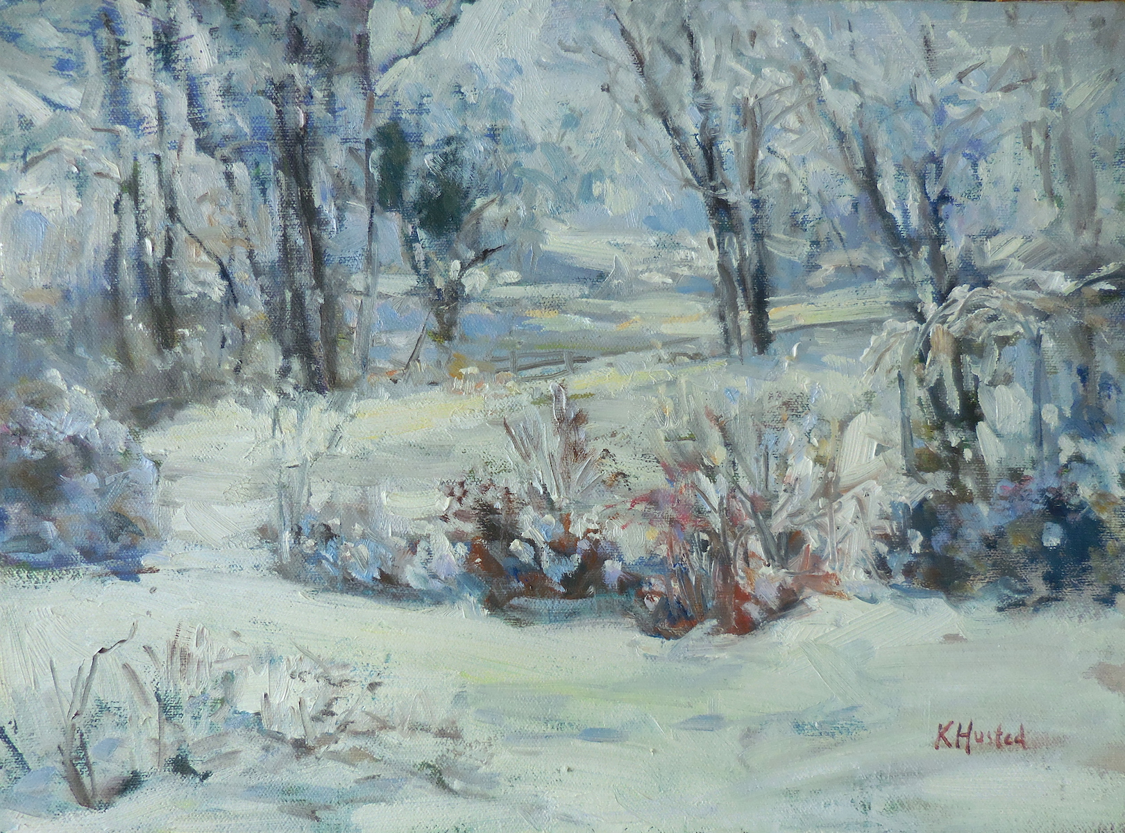 Morning Snow 12x16