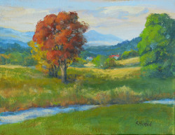 Red Oak and Pastures 11x14