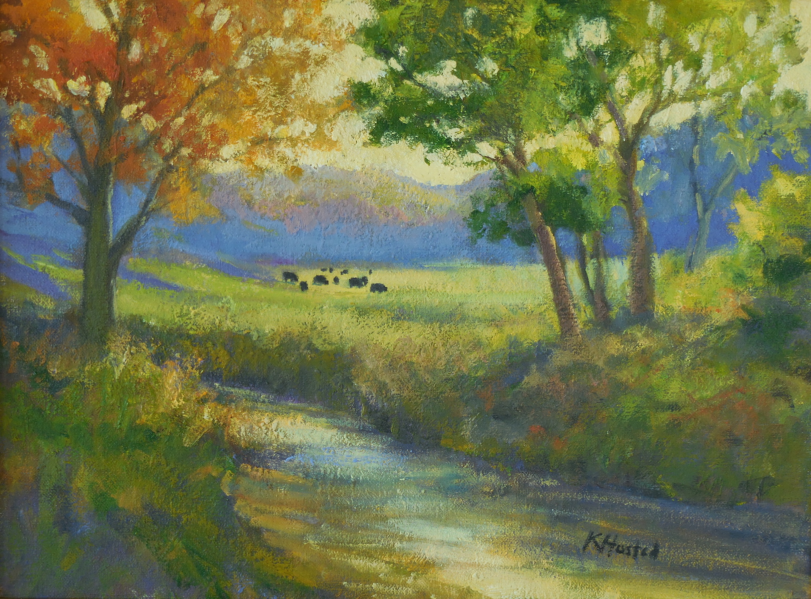 Cows Grazing 12x16