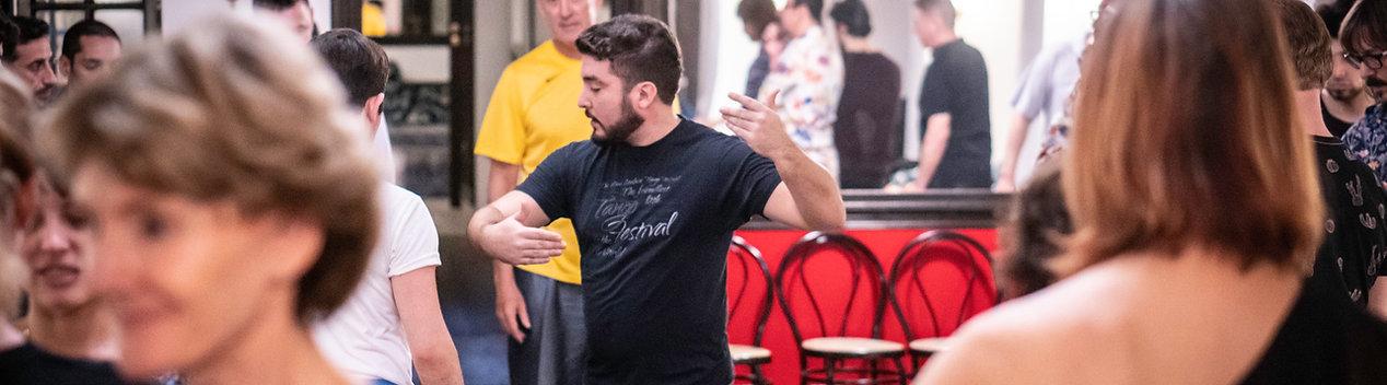 Maestro Sebastian Arrua teaching at BA. Tango Evolution