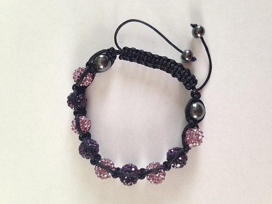 Womens Pink/Purple Bracelet