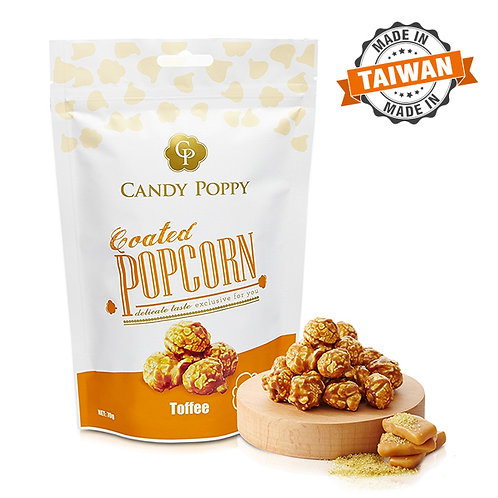 Candy Poppy Popcorn - Toffee 70g