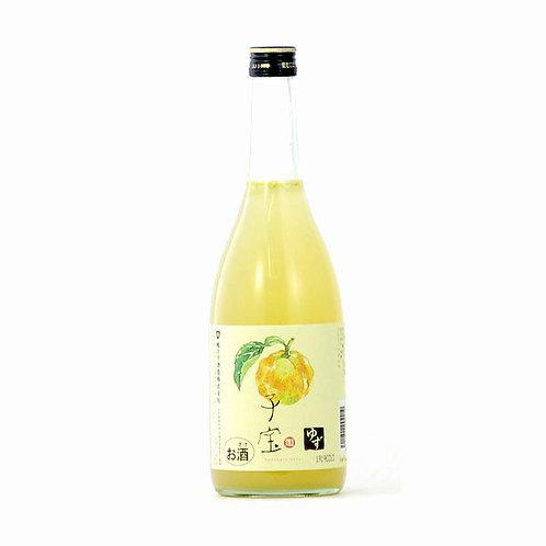 楯野川 子宝 柚子酒 - 720ML