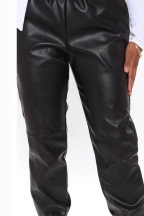 Triggered | Jogger Leather Pants