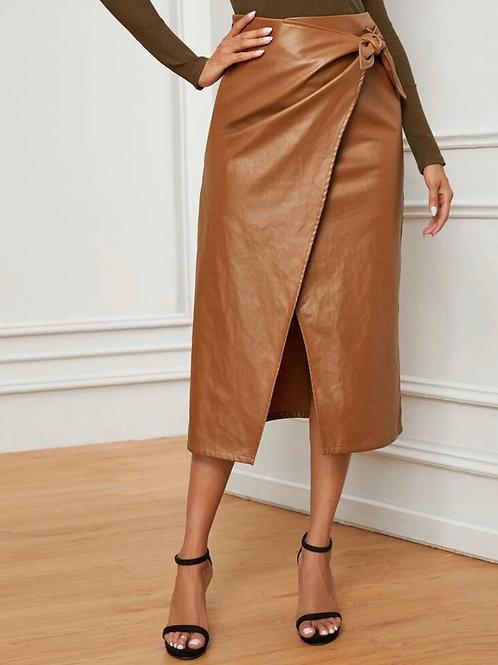 Coco Knee Length | Leather Skirt