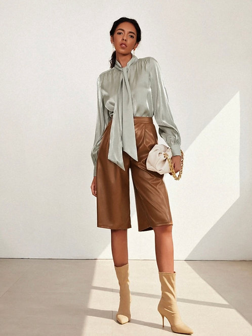 High On Life Knee Length Leather | Shorts