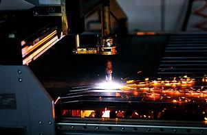 Industrial cnc plasma cutting metal plat