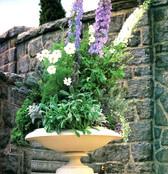 Garden Design Delphiniumin Footed Urn_ed