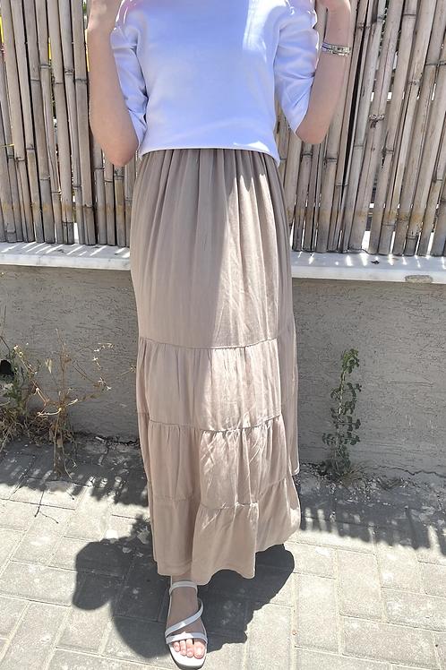 חצאית מקסי פשתן