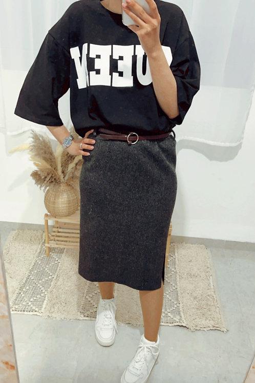 חצאית ריב חגורה