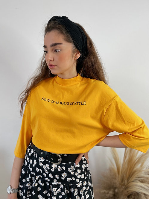 T-shirt style אוברסייז