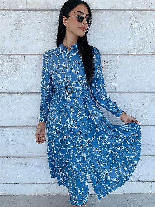 שמלת קלי חגורה