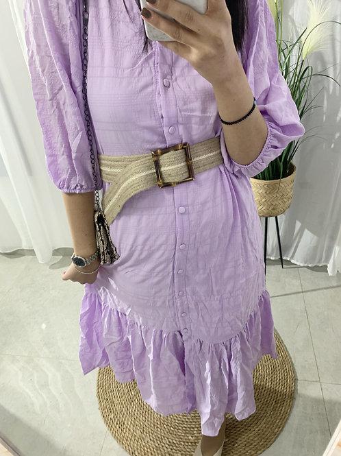 שמלת דרים חגורה קש