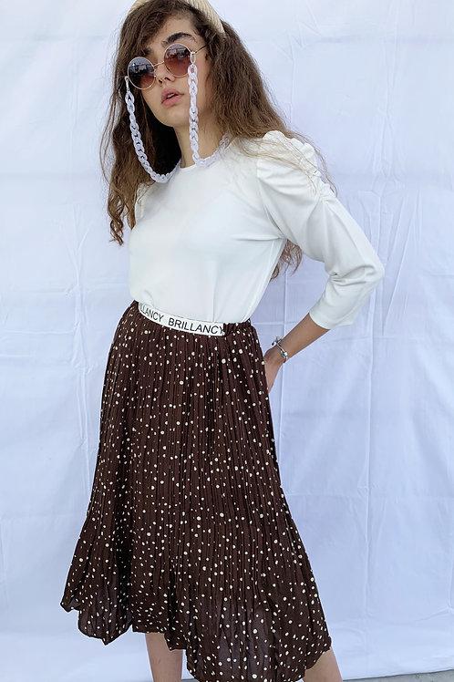 חצאית טיטי נקודות