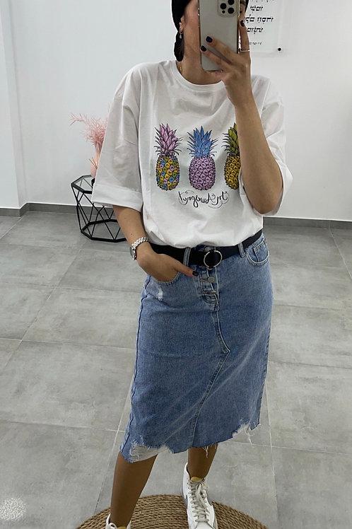 חצאית גינס טלי