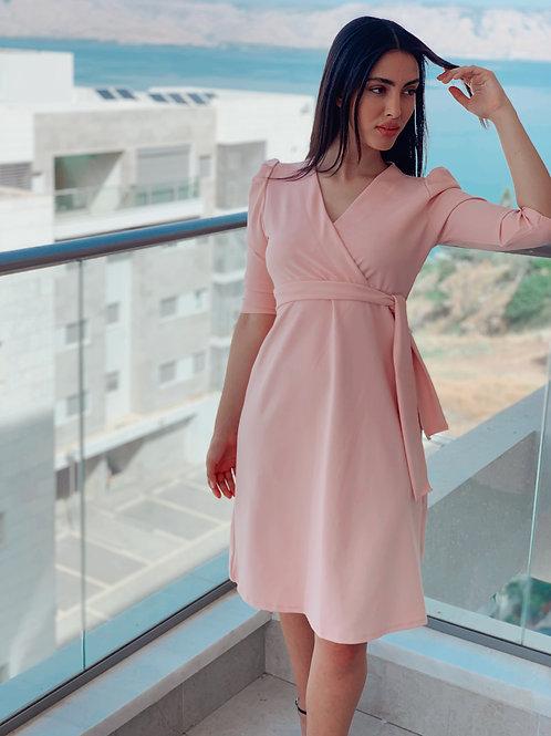 שמלת פפולין כתפים נפוחות