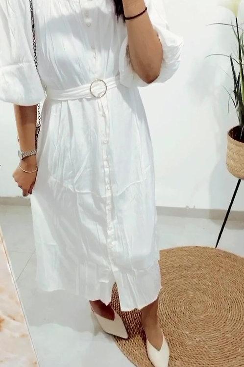 שמלת אנגלה חגורה