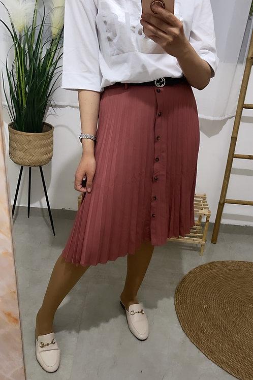חצאית פליסה חגורה