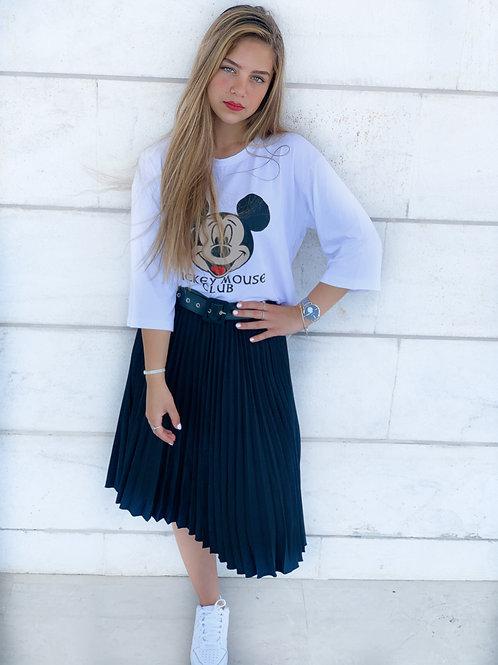 חצאית ליידי פליסה חגורה